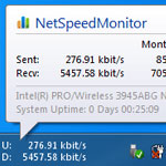 NetSpeed Internet Traffic Monitor screenshot