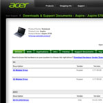 Acer Aspire 5750 Wireless Drivers screenshot