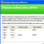 Pandora Recovery Software Download screenshot