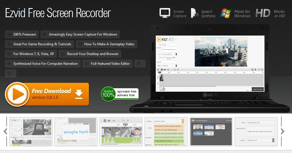 Ezvid Free Screen Recorder Download For Windows