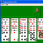 Microsoft FreeCell screenshot